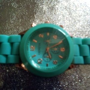 New Turquoise Blue Jelly Watch